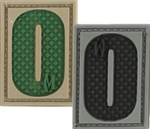 "Picture of LETTER ""O"" PVC Patch 0.7"" x 1.18"" by Maxpedition®"
