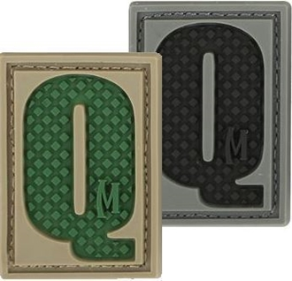 "Picture of LETTER ""Q"" PVC Patch 0.84"" x 1.18"" by Maxpedition®"