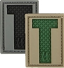 """Picture of LETTER """"T"""" PVC Patch 0.84"""" x 1.18"""" by Maxpedition®"""