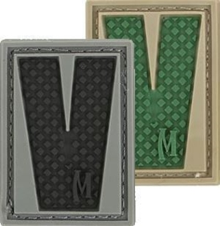 """Picture of LETTER """"V"""" PVC Patch 0.84"""" x 1.18"""" by Maxpedition®"""