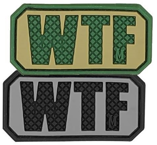 "Picture of WTF PVC Patch 2"" x 1"" by Maxpedition®"