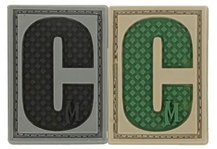 """Picture of LETTER """"C"""" PVC Patch 0.84"""" x 1.18"""" by Maxpedition®"""