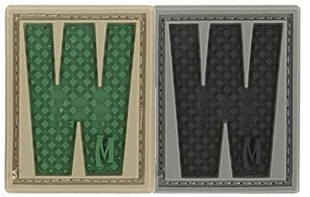 "Picture of LETTER ""W"" PVC Patch 0.94"" x 1.18"" by Maxpedition®"