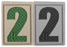 """Picture of Number 2 PVC Patch 0.84"""" x 1.18"""" by Maxpedition®"""