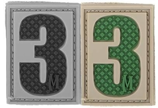 "Picture of Number 3 PVC Patch 0.84"" x 1.18"" by Maxpedition®"