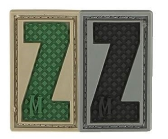 """Picture of LETTER """"Z"""" PVC Patch 0.7"""" x 1.18"""" by Maxpedition®"""
