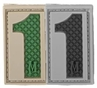 """Picture of Number 1 PVC Patch 0.7"""" x 1.18"""" by Maxpedition®"""