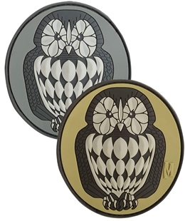"Picture of Owl PVC Patch 3"" x 2.75"" by Maxpedition®"