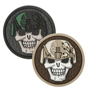 "Picture of Soldier Skull PVC Patch 2"" x 2"" by Maxpedition®"