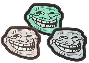 "Picture of Troll Face PVC Patch 2.25"" x 1.9"" by Maxpedition®"