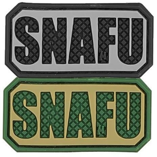 "Picture of SNAFU PVC Patch 2"" x 1"" by Maxpedition®"