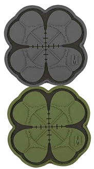 """Picture of Lucky Shot Clover PVC Patch 2"""" x 2"""" by Maxpedition®"""