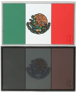 """Picture of Mexico Flag PVC Patch 3"""" x 1.75"""" by Maxpedition®"""