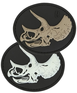 """Picture of Triceratops Skull PVC Patch 3"""" x 2.5"""" by Maxpedition®"""