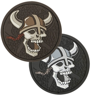 "Picture of Viking Skull PVC Patch 2.4"" x 2.4"" by Maxpedition®"