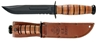 Picture of Partially Serrated US Army KA-BAR® With Brown Leather Sheath