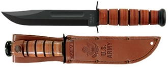 Picture of US Army KA-BAR® with Brown Leather Sheath
