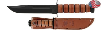 Picture of US Navy KA-BAR® with Brown Leather Sheath