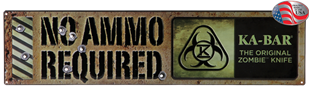Picture of Zombie® No Ammo Required Sign