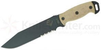 Picture of RD 7 - Tan Micarta Handle - Serrated Blade by OKC®