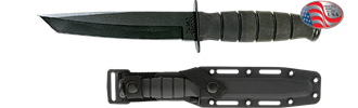 Picture of Short KA-BAR® Black Tanto With Glass Filled Nylon Sheath