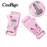 Baby Pink 3/4 Inch Whistle Buckle with Flint Fire Starter Escaper