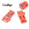 Orange 3/4 Inch Whistle Buckle with Flint Fire Starter Escaper