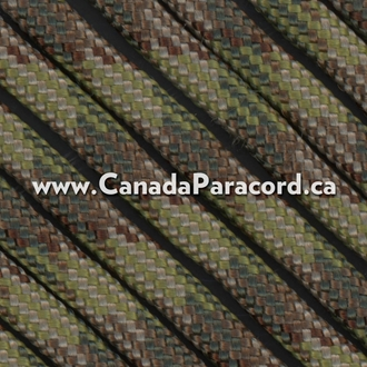Multi Camo - 95 Paracord Type 1 Nylon - 100 Feet