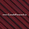 Imperial Red & Black Stripe - 100 Ft - 550 LB Cord
