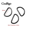 Black D-Ring 20mm (3/4 inch) Non Welded - Zinc Alloy