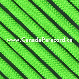 Neon Green - 95 Paracord Type 1 Nylon - 100 Feet