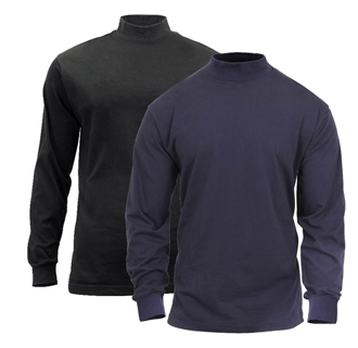 Mock Turtleneck Black by Rothco