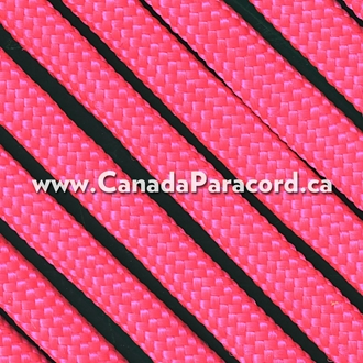 Neon Pink - 95 Paracord Type 1 Nylon - 100 Feet