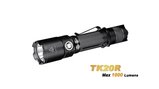 TK20R Rechargeable Tactical Flashlight - Max 1,000 Lumens by Fenix™