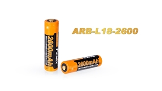 18650 ARB-L18-2600 Rechargeable Li-ion Battery by Fenix™