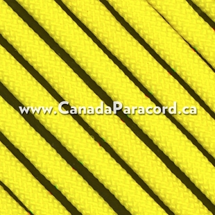 Neon Yellow - 95 Paracord Type 1 Nylon - 100 Feet