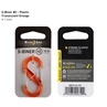 S-Biner® Plastic Double Gated Carabiner #2 - Orange