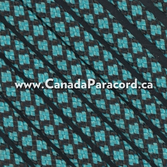 Neon Turquoise Diamonds - 50 Ft - 550 LB Paracord