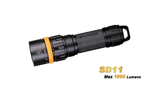 SD11 Diving Light - Max 1000 Lumens by Fenix™ Flashlight