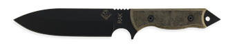 RAK - Plain Edge Black Micarta Handle