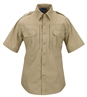 Mock Button Tactical Dress Shirt - Short Sleeve - BATTLE RIP 65/35 Poly/Cotton RipStop by Propper®