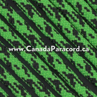 Neon Green Camo - 100 Ft - 550 LB Paracord