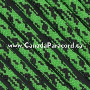Neon Green Camo - 50 Ft - 550 LB Paracord