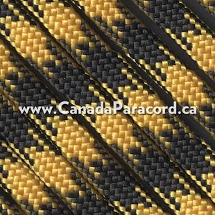 Goldenrod/Black - 50 Foot - 550 LB Paracord