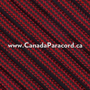 Imperial Red & Black Stripe - 50 Ft - 550 LB Cord