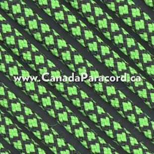 Neon Green Diamonds - 50 Ft - 550 LB Paracord