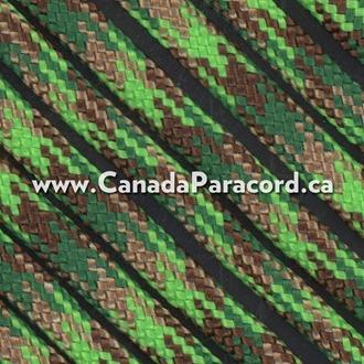 Neon Green Flame Camo - 50 Feet - 550 LB Paracord
