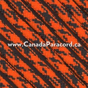 Neon Orange Camo - 1,000 Foot - 550 LB Paracord