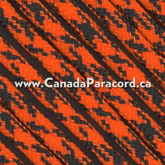 Neon Orange Camo - 1,000 Foot - 550 LB Paracord