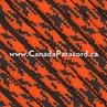 Neon Orange Camo - 50 Foot - 550 LB Paracord